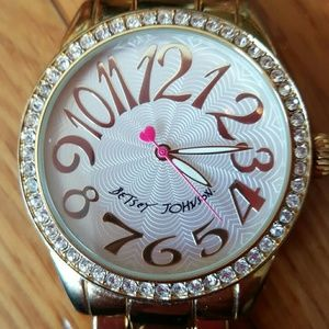 $89 Betsey Johnson Gold Watch Large Face & Numbers
